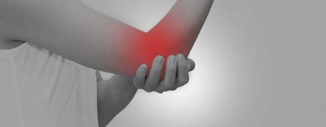 肘の痛む部分の写真
