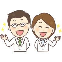 スタッフの笑顔のイラスト