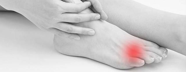 足の痛み部分の写真