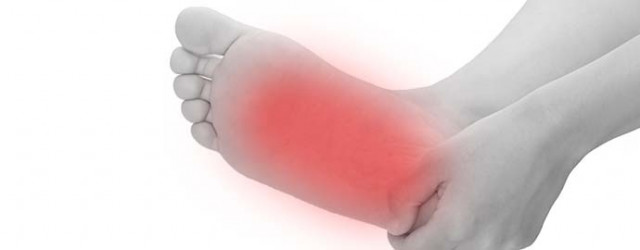 足裏の炎症の写真